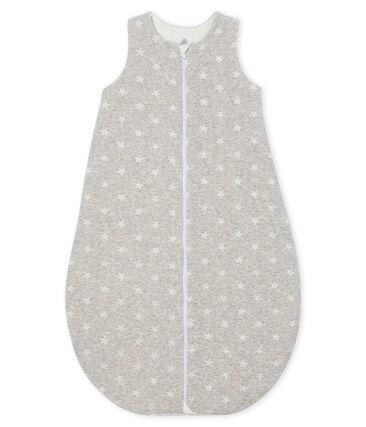 Sacco nanna bebé maschio in ciniglia grigio Beluga / bianco Marshmallow