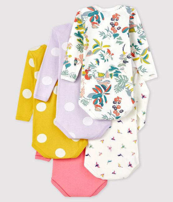 Confezione da 5 body a manica lunga bebè femmina lotto .