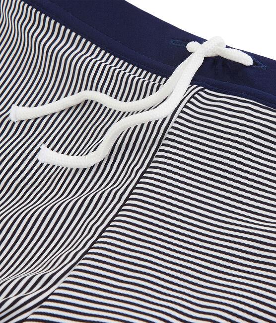 Costume da bagno bambino blu Abysse / bianco Lait