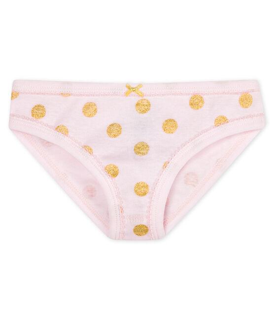 Slip bambina rosa Vienne / giallo Or