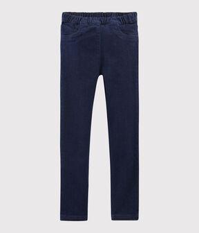 Pantaloni in denim bambina blu Denim Bleu Fonce