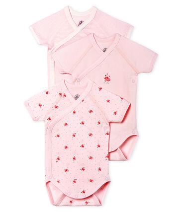 Lotto di 3 body nascita manica corta bebè