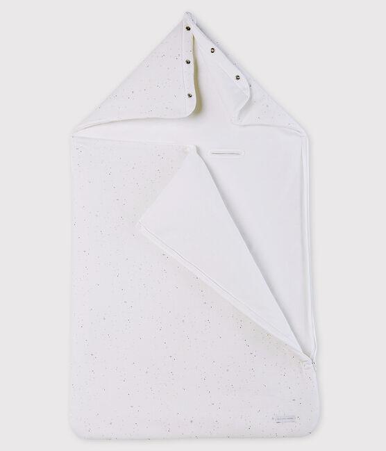 Nido d'angelo bianco bebè in tubique di cotone biologico bianco Marshmallow