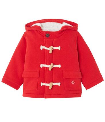 Montgomery per bebé in molleton rosso Froufrou