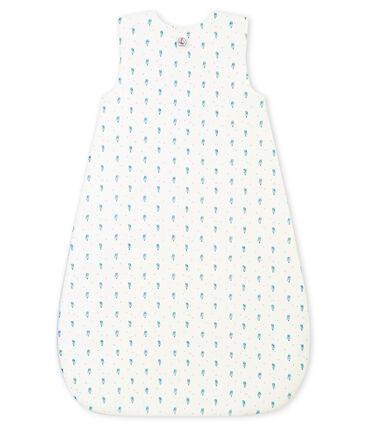 Sacco nanna stampato per bebé maschio in ciniglia bianco Marshmallow / bianco Multico