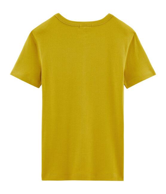T-shirt maniche corte girocollo donna giallo Bamboo