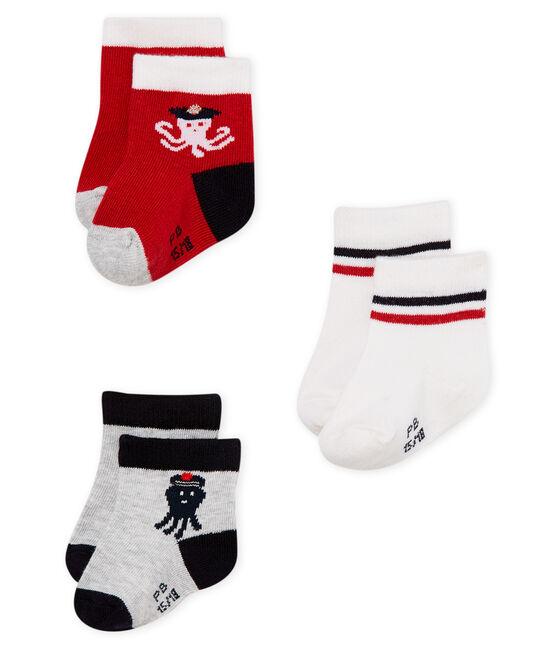 Confezione da 3 paia di calzini neonato lotto .