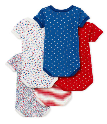 Confezione da 5 body manica corta bebè bambina