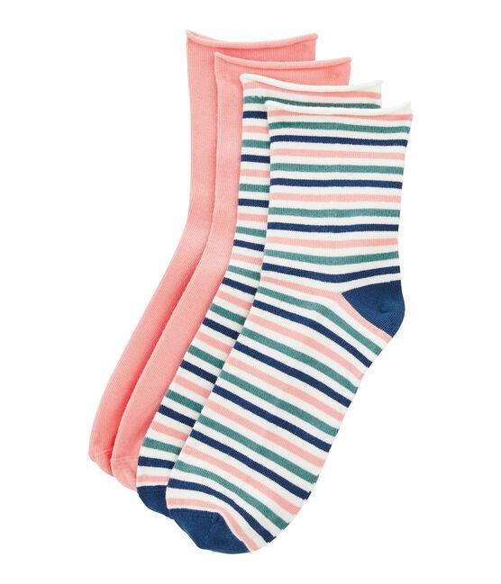 Set di 2 paia di calzini donna lotto .