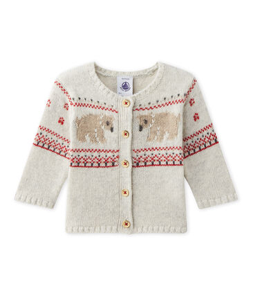 Cardigan per bebè tricot grigio Montelimar Chine