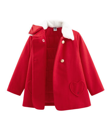 Cappotto bambina rosso Froufrou