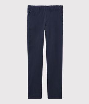 Pantalone in maglia Donna blu Smoking