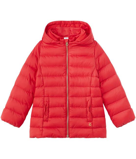 Piumino per bambina con cappuccio rosso Froufrou