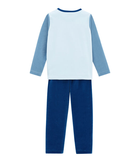 Pigiama per bambino blu Limoges / bianco Multico