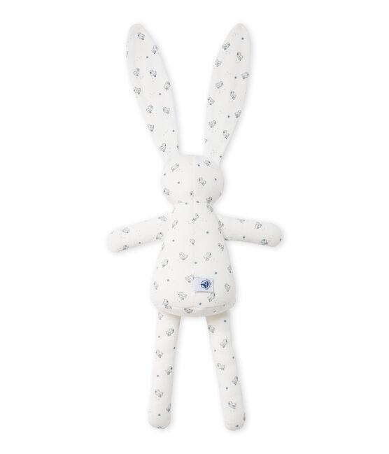 Doudou lapin bébé mixte imprimé bianco Lait / bianco Multico