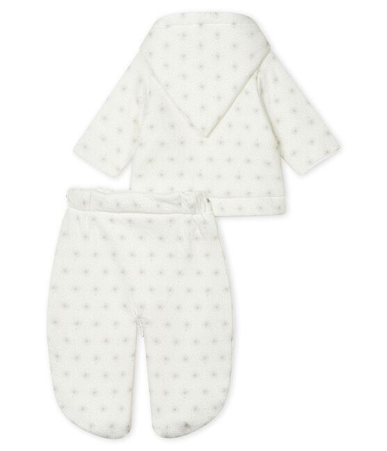 Tutina da pilota 3 in 1 bebè unisex bianco Marshmallow / beige Perlin