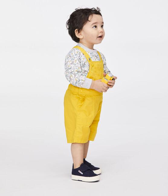 Salopette corta da bambino giallo Gengibre