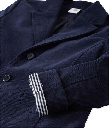 Giacca per abito per bambino in velluto blu Smoking