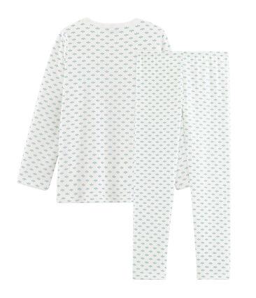 Pigiama bambina in tubique bianco Marshmallow / bianco Multico