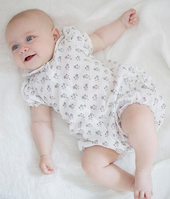 Tutina corta bambina bianco Marshmallow / bianco Multico