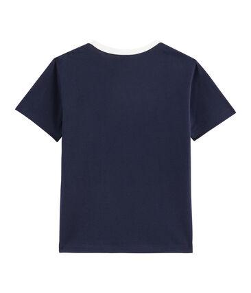 T-shirt bambino blu Smoking / bianco Marshmallow