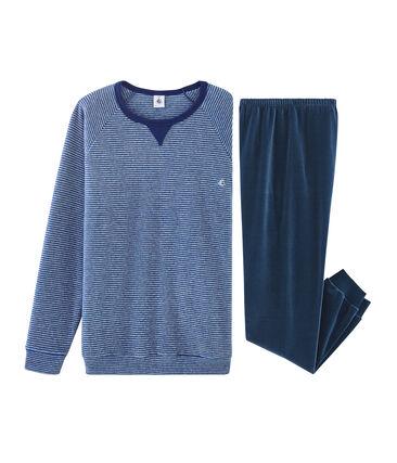 Pigiama ragazzo in doppio materiale blu Major / grigio Subway