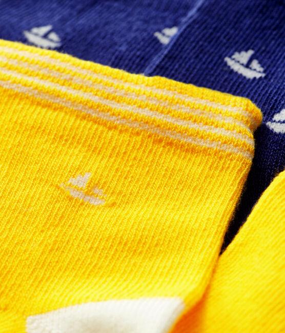 Set di 2 paia di calzini bebè bambino blu Touareg