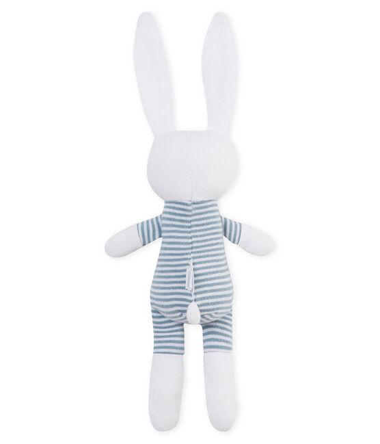 Doudou coniglietto bebè in jersey blu Fontaine / bianco Marshmallow