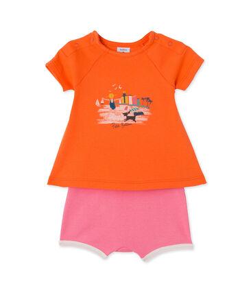 Coordinato per bebè femmina shorts e t-shirt