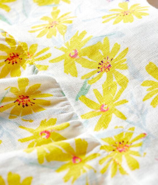 Blusa bebè femmina in lino bianco Marshmallow / bianco Multico