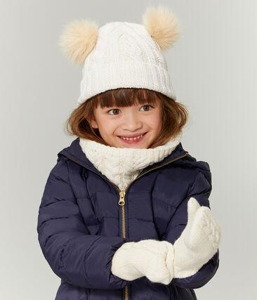 Cappellino bambina bianco Marshmallow / giallo Or