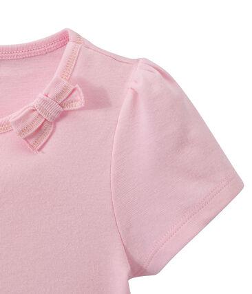 T-shirt bambina con fiocco