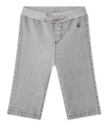 Pantalone bebé bambino denim grigio Gris