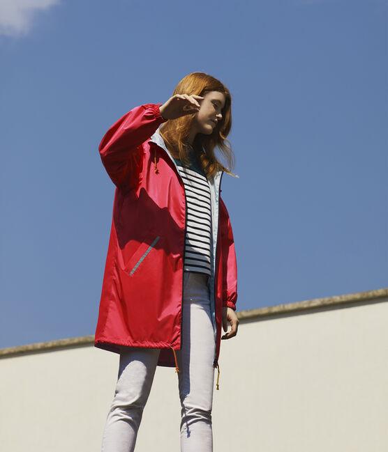 Giacchetta lungo reversibile donna rosa Groseiller / blu Crystal