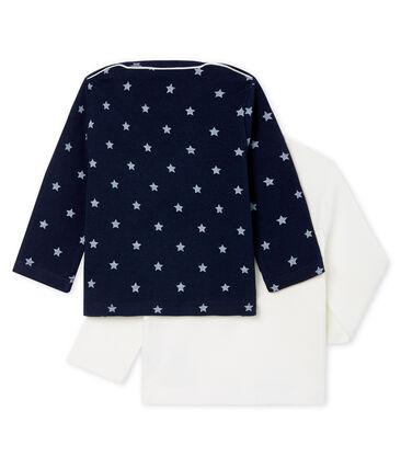 Confezione da 2 T-shirts a manica lunga bebè maschio lotto .