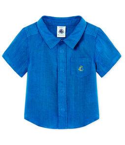 Camicia mc neonato in lino