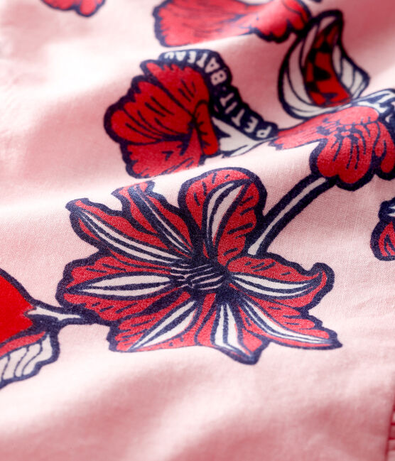 Abito senza maniche bebè femmina fantasia rosa Merveille / bianco Multico