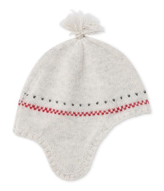 Cappello peruviano per bebè in misto lana grigio Montelimar Chine