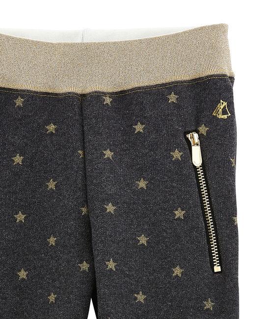 Pantalone per bambina nero City / giallo Dore