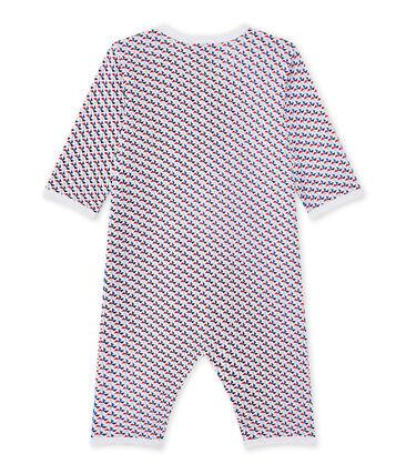 Tutina senza piedi bebè bambino bianco Ecume / bianco Multico
