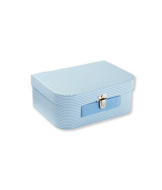 Valigetta multiuso a millerighe blu Fraicheur / bianco Ecume