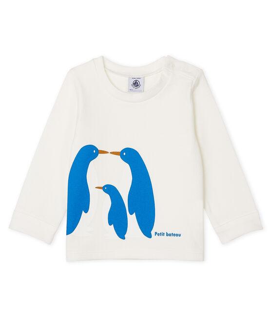 T-shirt a manica lunga bebè maschio bianco Marshmallow