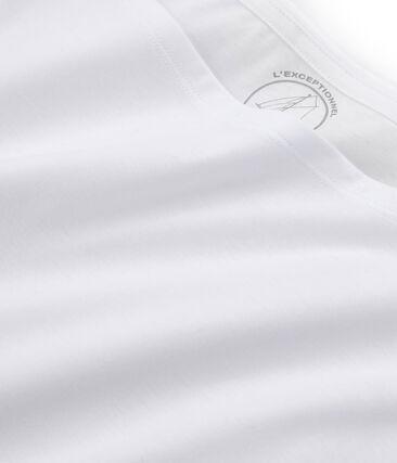 T-shirt manica corta in cotone Sea Island donna bianco Ecume