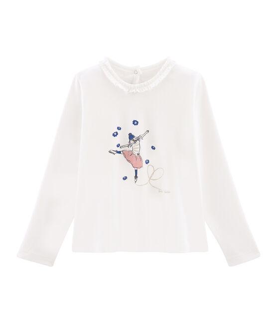 T-shirt a maniche lunghe bambina bianco Marshmallow