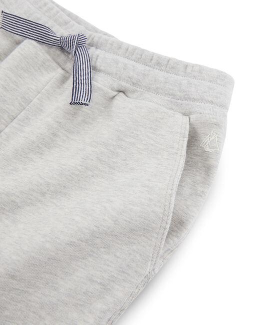 Pantalone in maglia da bambino grigio Beluga
