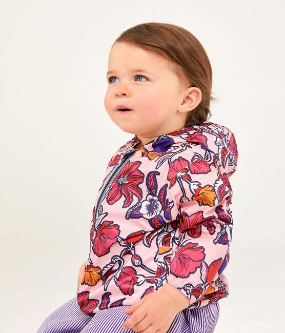 Giacca antivento e anti UV UPF 50+ bebè unisex rosa Patience / bianco Multico