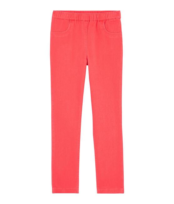 Jeans slim stretch bambina rosa Groseiller