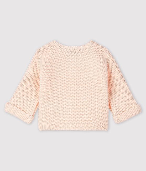 Cardigan bebè in tricot 100% cotone FLEUR