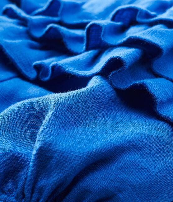 Culotte bloomer bebè bambina in lino blu Riyadh