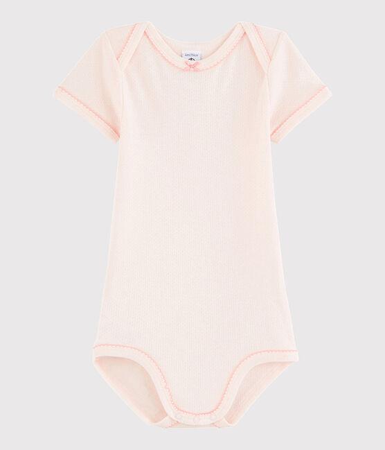 Body manica corta bebè femmina rosa Fleur